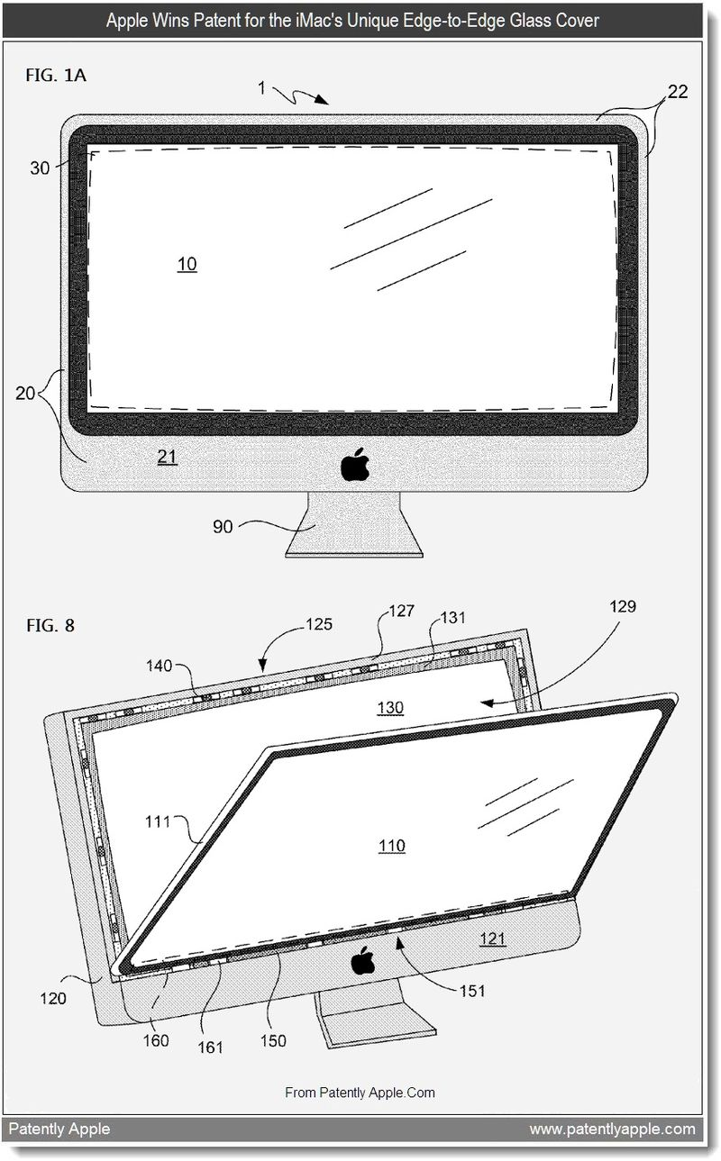 3 - Apple wins patent for the imac's unique edge-to-edge glass cover - June 2011, Patently Apple