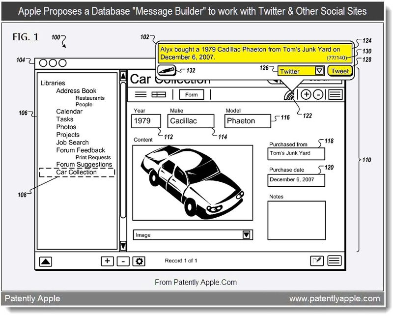 2 - Apple's proposes a database message builder to work with twitter & other social sites, July 2011, Patently Apple