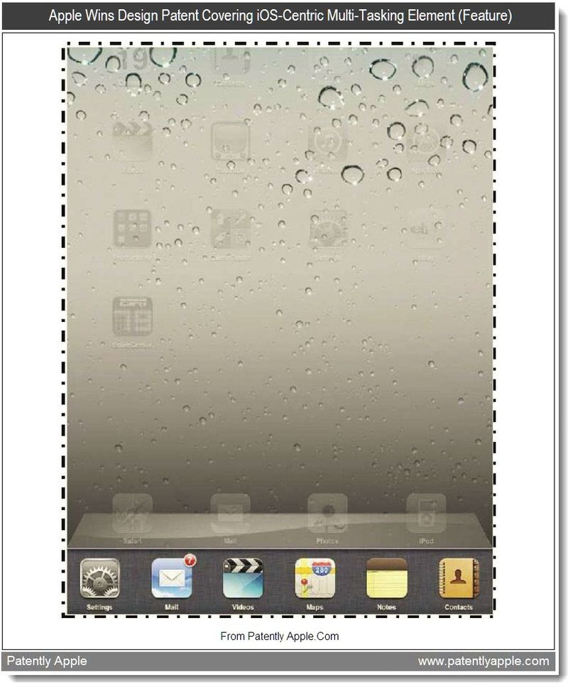 3 - Apple Wins Design Patent Covering iOS-Centric Multi-Tasking Element (Feature), July 2011, Patently Apple
