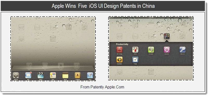 1 - Apple Wins Five iOS UI Design Patents in China, July 2011, Patently Apple