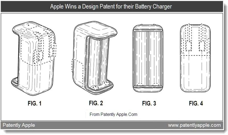 5 - Apple Wins a Design Patent for their Battery Charger, July 2011, Patently Apple