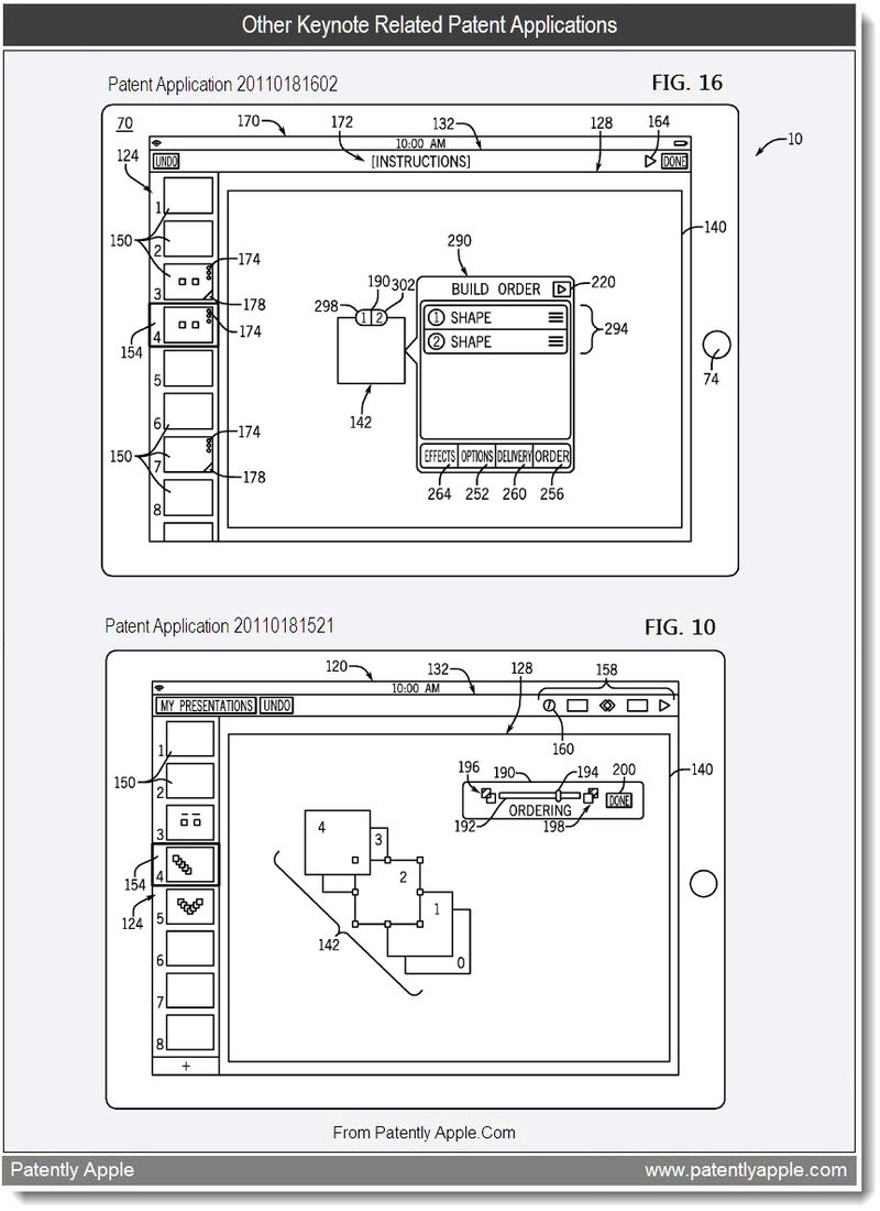 6 - Other Keynote Related Patent Applications, July 2011, Patently Apple