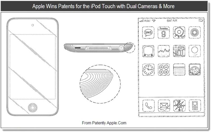 1 - Apple wins patents for the iPod touch with Dual Cameras & More, Aug 2011, Patently Apple