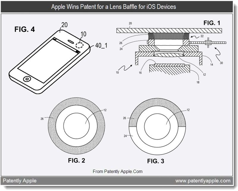 4 - Apple Wins Patent for a Lens Baffle for iOS Devices, aug 2011, Patently Apple