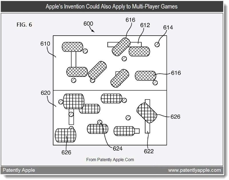 4 - Apple's Invention Could Also Apply to Multi-Player Games, Aug 2011, Patently Apple