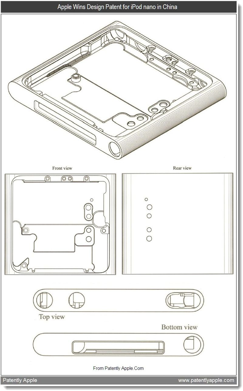2 - Apple wins design patent for iPod nano in China, Sept 2011, Patently Apple Blog