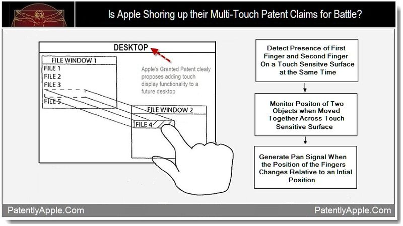1 - Is Apple Shoring up their Multi-Touch Patent Claims for Battle, Sept 2011, Patently Apple Blog