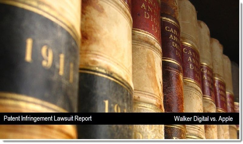 1 V2 - Walker Digital vs. Apple - Patent Infringement Lawsuit report - April 2011