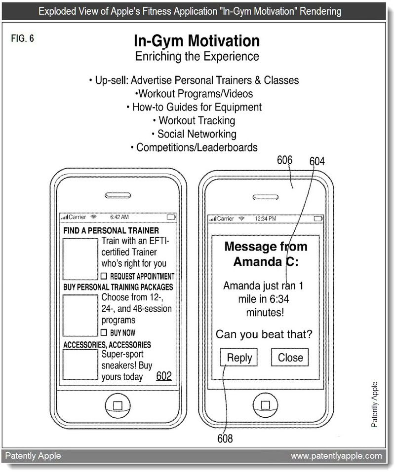 5 - In-Gym Motivation - Fitness App - Apple patent april 2011