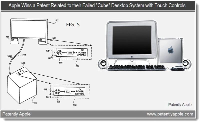 2  -  Apple wins patent related to their failed Cube Desktop System with Touch Controls - May 2011