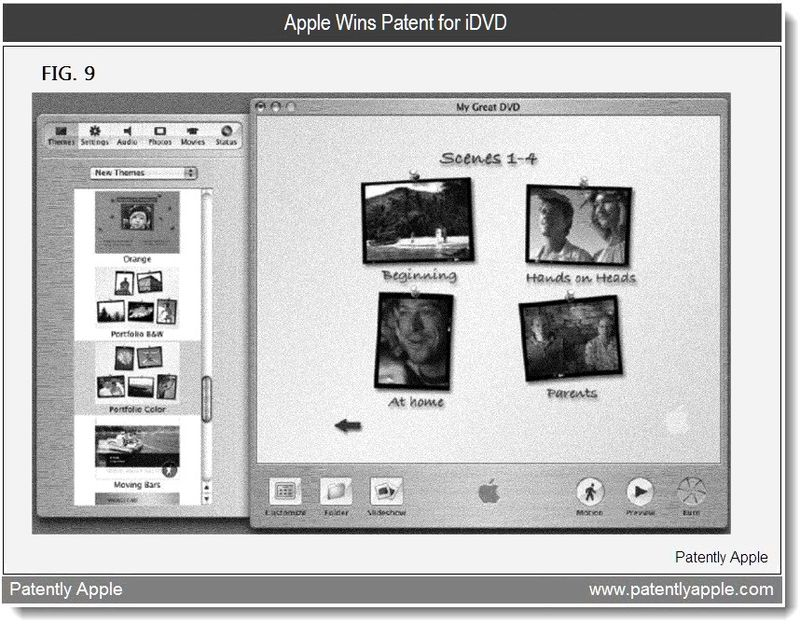 4 - Apple wins patent for iDVD