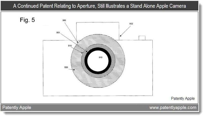 3 - A continued patent relating to aperture illustrates a stand alone apple camera - patent may 2011