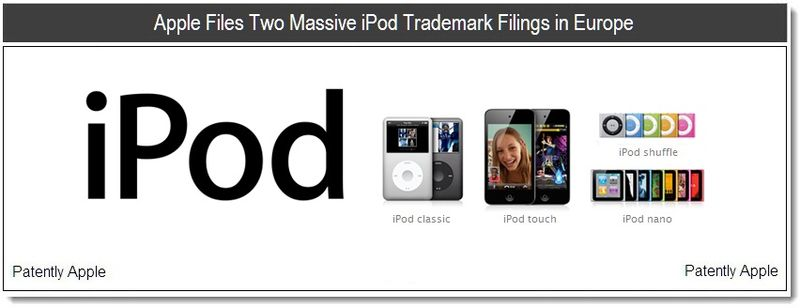 1 - Apple Files Two Massive iPod Trademark Filings in Europe - June 2011