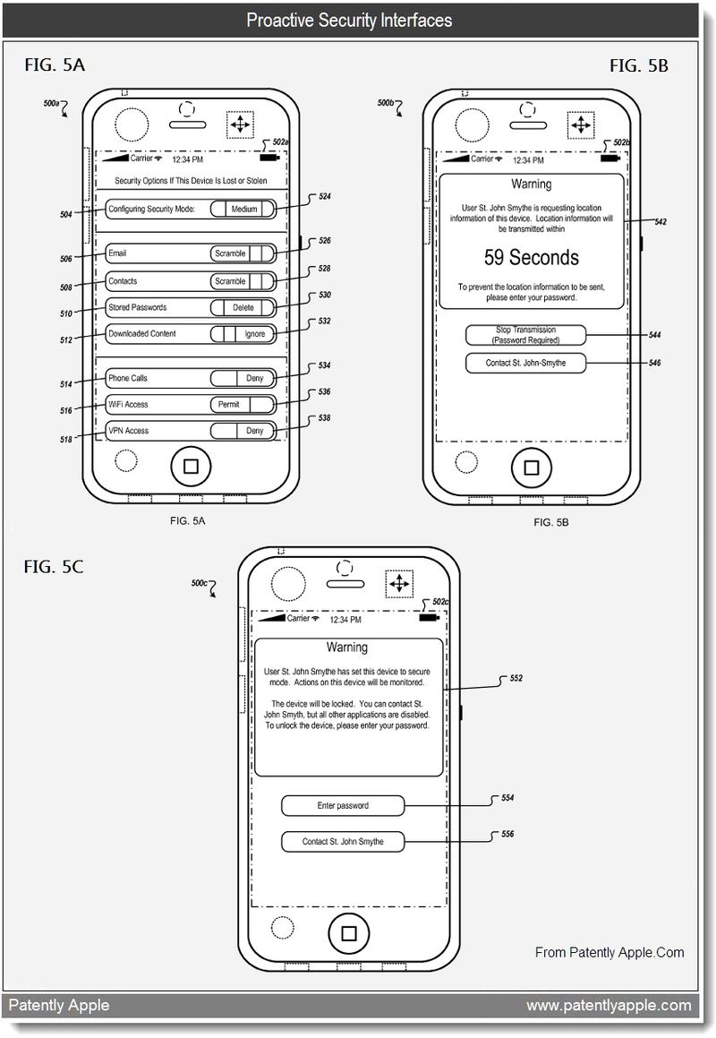 3 - Proactive Security Interfaces, Apple patent, June 2011, Patently Apple