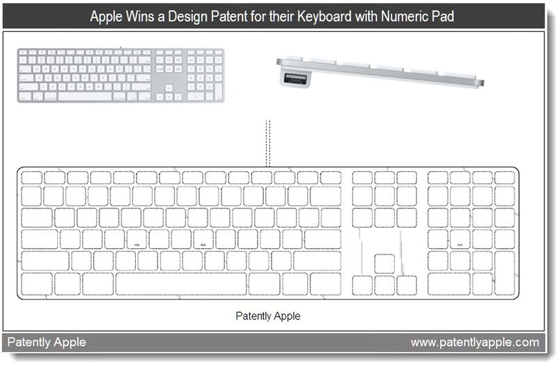 2 - Apple wins a design patent for their keyboard with Numeric Pad