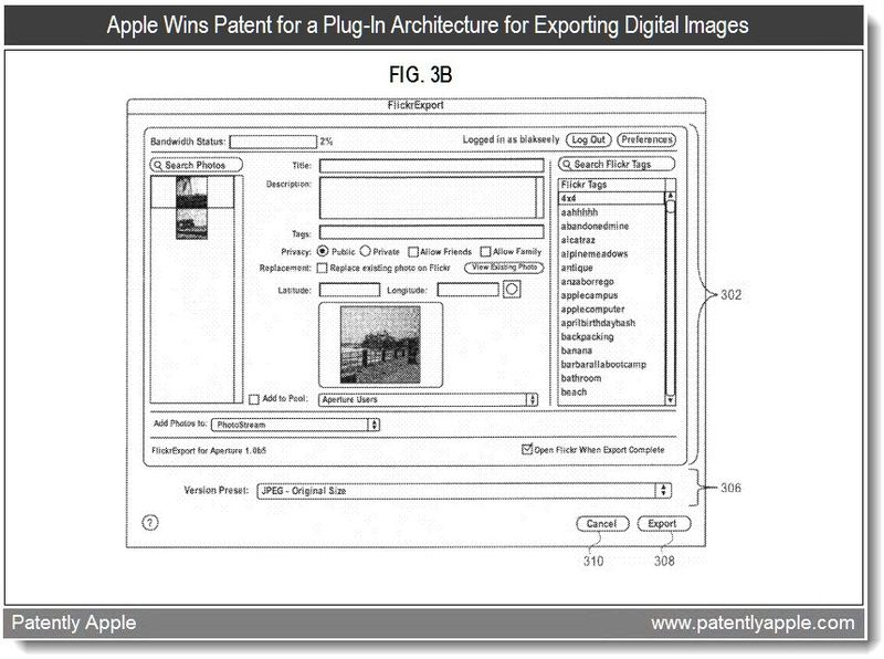 4 - Apple Wins Patent for a Plug-In Architecture for Exporting Digital Images - July 2011, Patently Apple