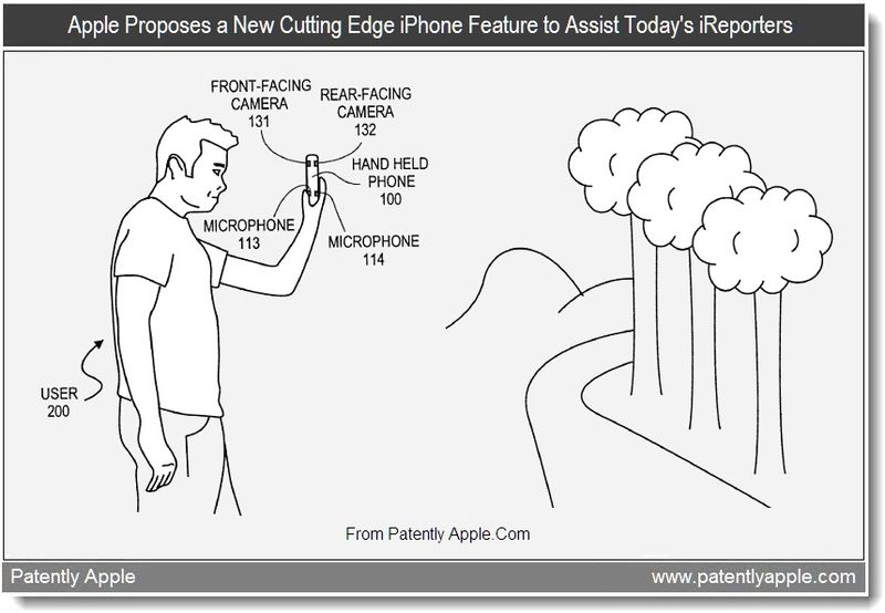 2 - Apple Proposes a New Cutting Edge iPhone Feature to Assist Today's iReporters, July 2011, Patently Apple