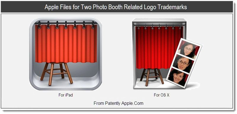 1 - Apple Files for Two Photo Booth Related Logo Trademarks, July 2011, Patently Apple