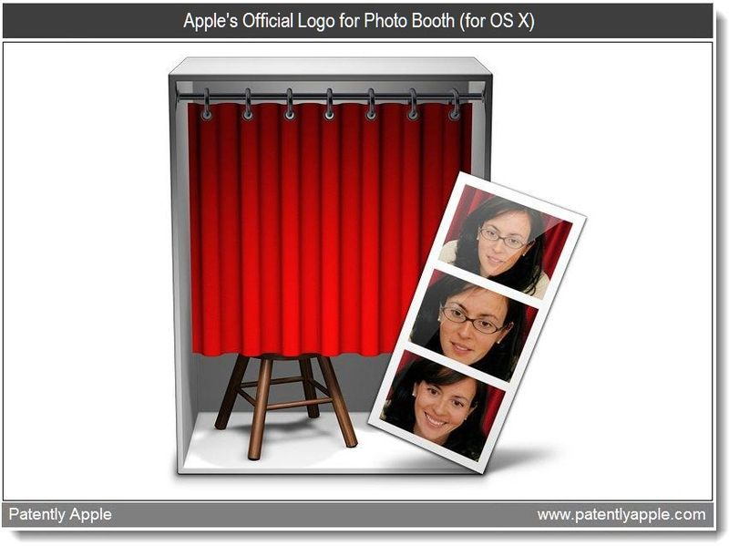 7 - Apple's Official Logo for Photo Booth (for OS X), July 2011, Patently Apple