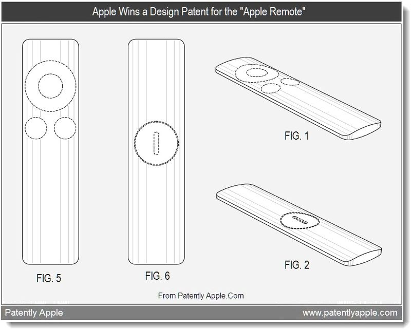 4 - Apple Wins a Design Patent for the Apple Remote, July 2011, Patently Apple