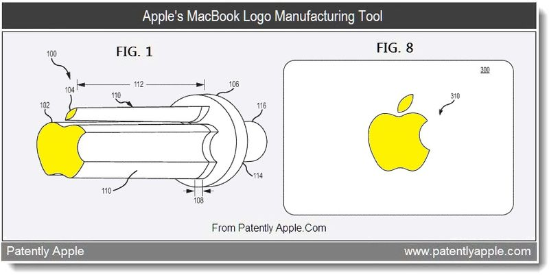 3 - Apple's MacBook Logo Manufacturing Tool, July 2011, Patently Apple