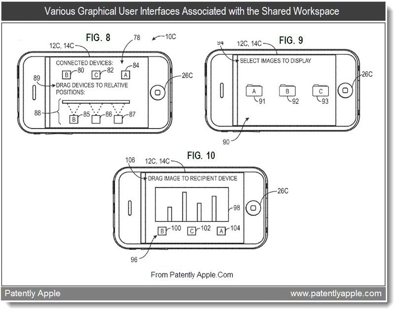 6 - Various Graphical User Interfaces Associated with the Shared Workspace, Aug 2011, Patently Apple