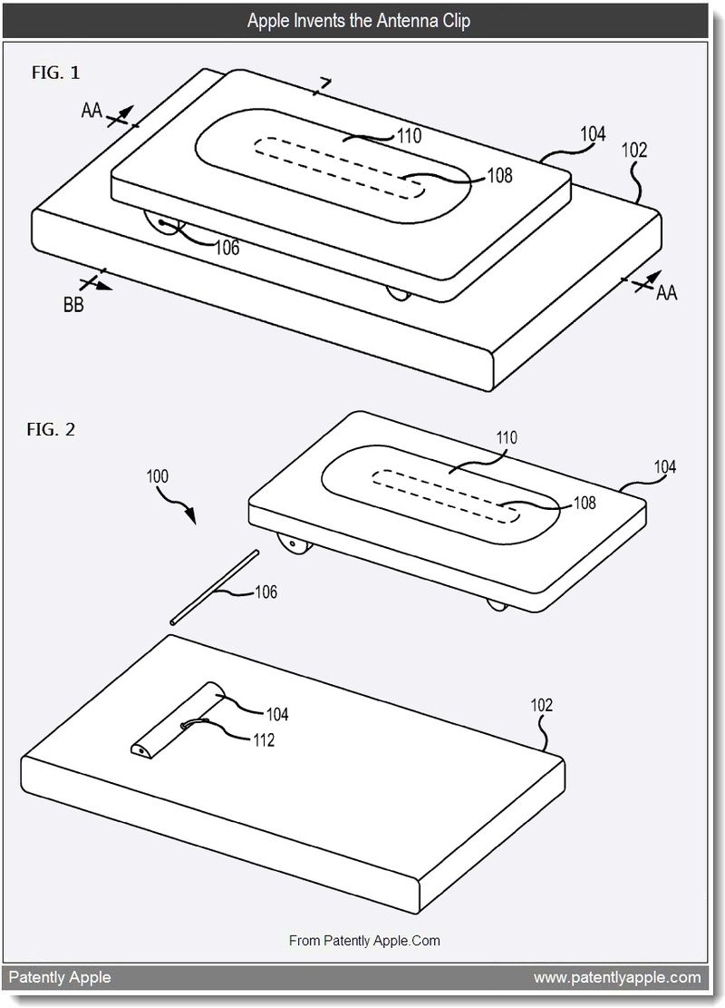 2 - Apple Invents the Antenna Clip, Aug 2011, Patently Apple