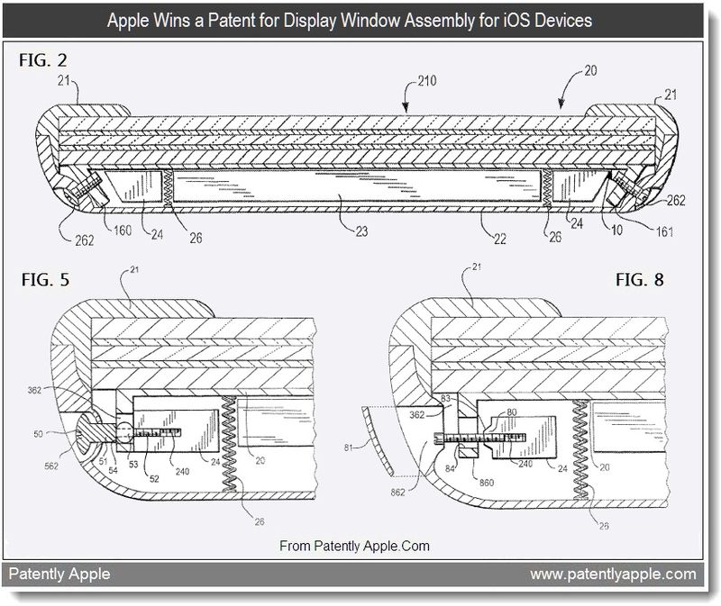5 - Apple, Window Assembly for iOS devices, Sept 2011, Patently Apple Blog