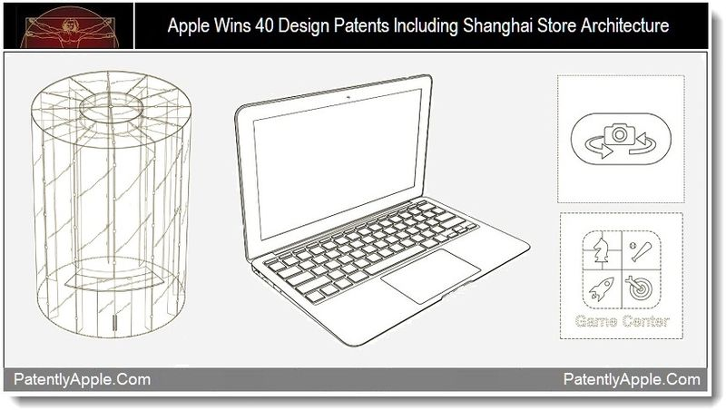 # 1 - Apple wins 40 design patents including shanghai store architecture, Sept 2011, Patently Apple
