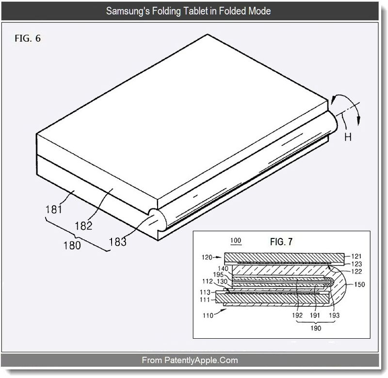 3 - Samsung's Folding Tablet in Folded Mode, sept 2011, Patently Apple
