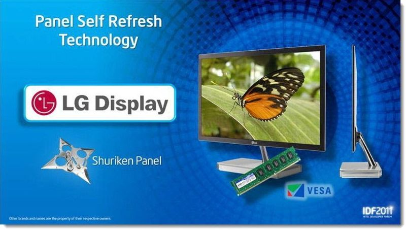 6 - LG Display with Panel Self Refresh Technology, Sept 2011 IDF, Patently Apple