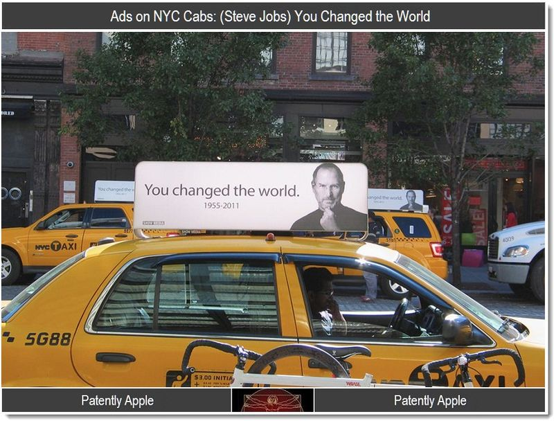 Ads Seen on NYC Cabs - (Steve Jobs) You Changed the World