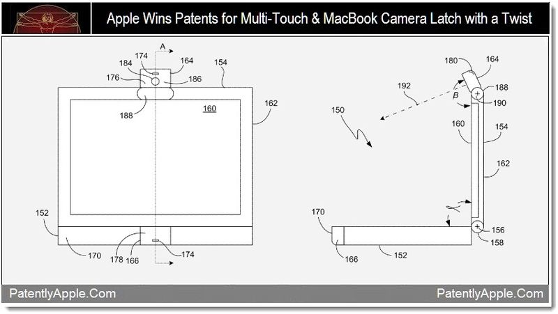 1 - Apple Wins Patents Multi-Touch + Camera Latch with a twist
