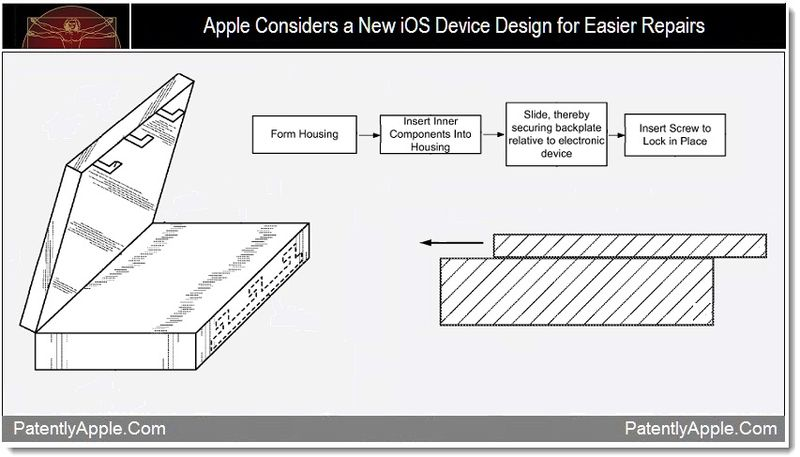 1 - Apple considers a new ios device design for easier repairs