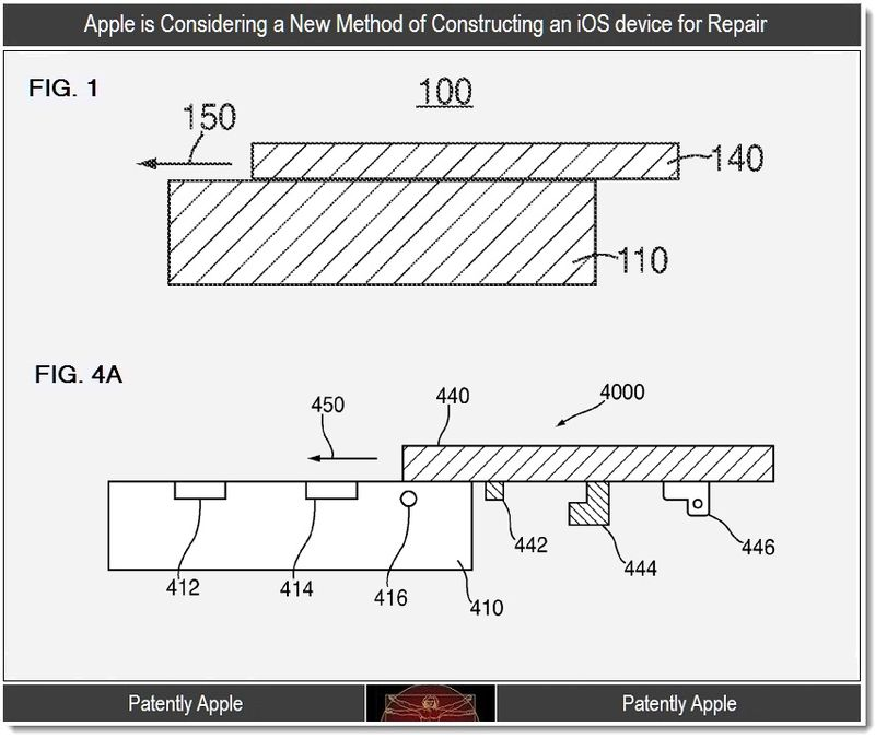 2 - New iOS device construction for easier repair, Apple patent 2011