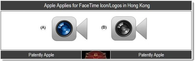 4 - Apple applies for FaceTime Logo Icon's in Hong Kong