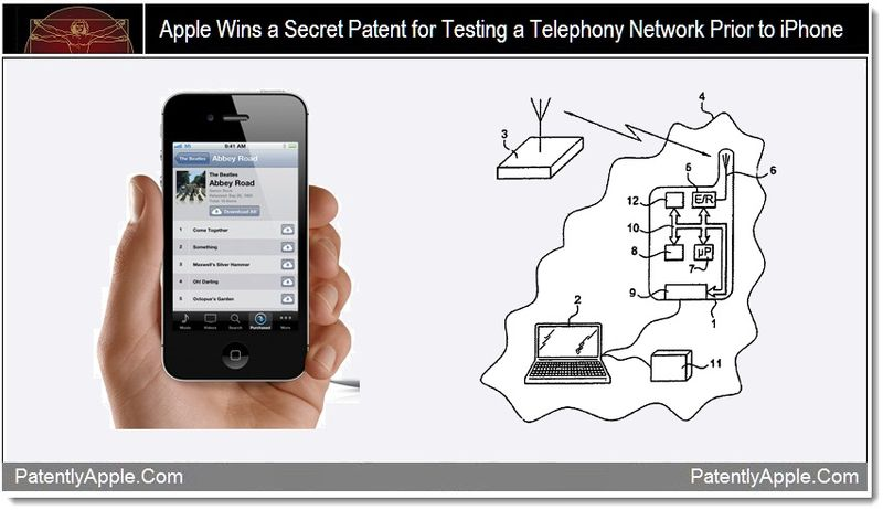 1 - Apple Wins a secret patent for testing a telephony network prior to iPhone