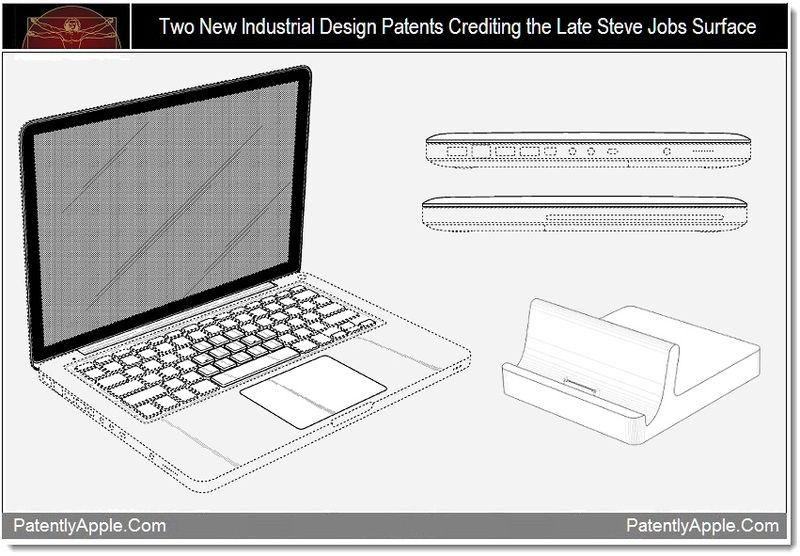 1 - 2 design patents credit the late Steve Jobs