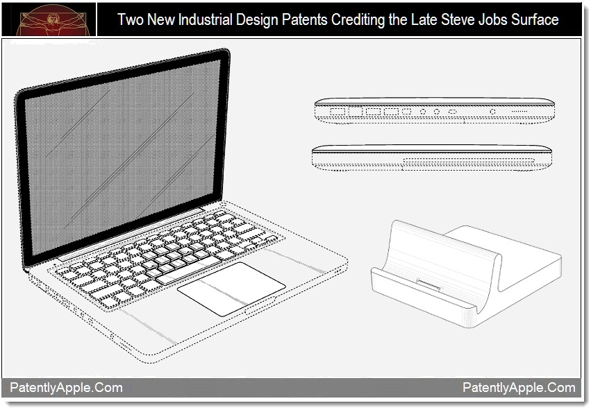 New Industrial Design Patents Surface Crediting the Late Steve ...