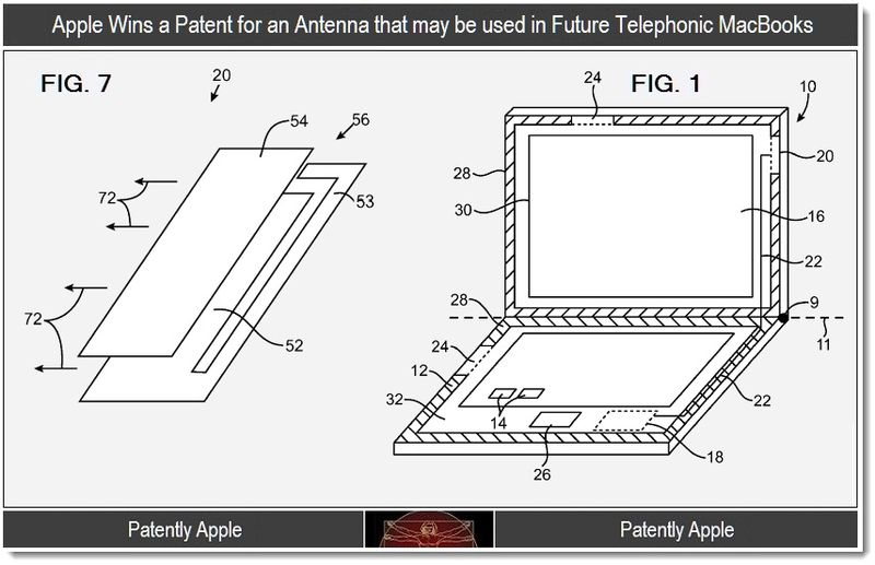 2 - Apple patent win - telephonic macbook antenna