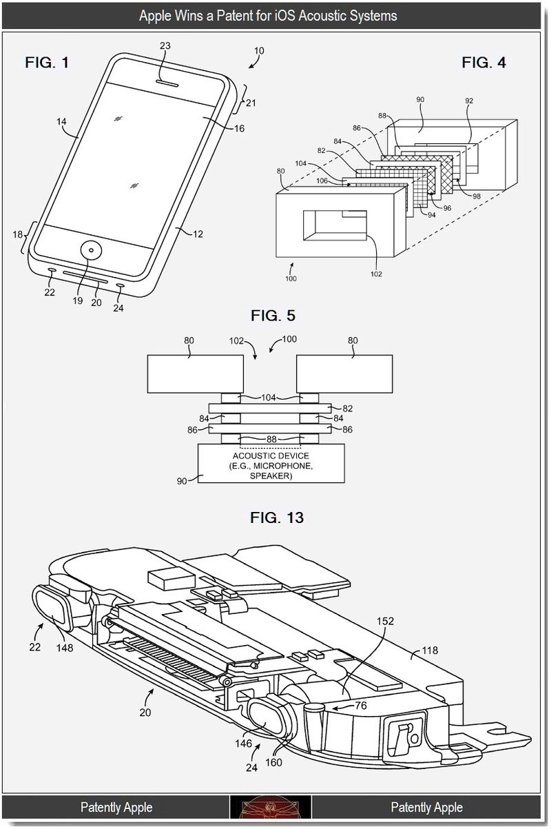 3 - Apple wins a patent for ios accoustic systems