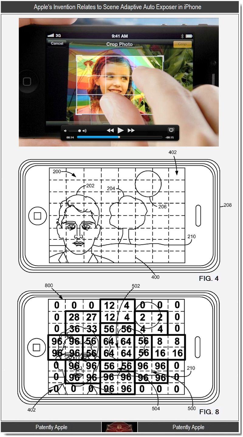 2 - Apple invention, scene adaptive auto exposer in iPhone
