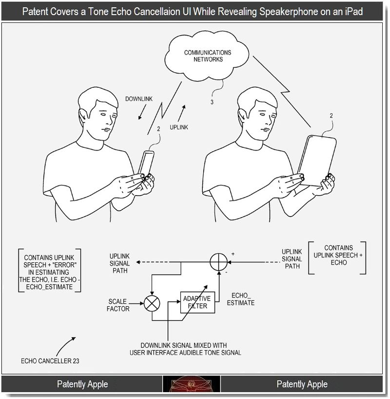 7 - patent on tone echo cancellation reveals iPad with Speakerphone capabilities