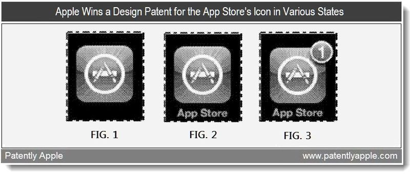 3 - Apple wins a design patent for the App Store's icon in various states - April 2011