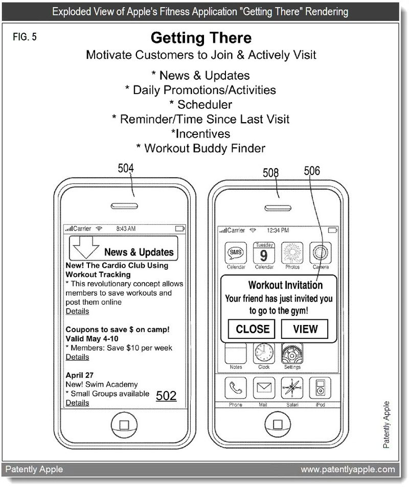 4 - Getting There - Fitness App - Apple patent April 2011