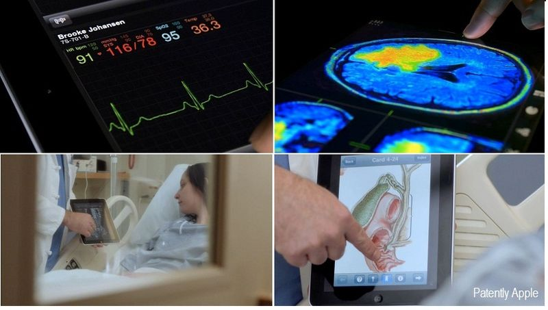 4 - Collage - iPad in hospitals - Apple video imagery