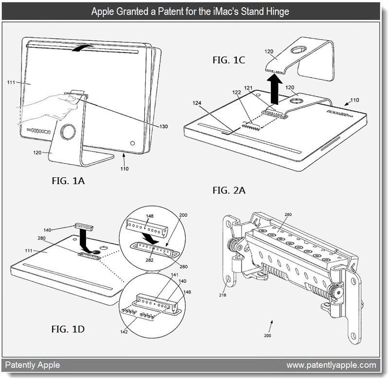 4 - Apple Granted a patent for the iMac's Stand Hinge - may 2011