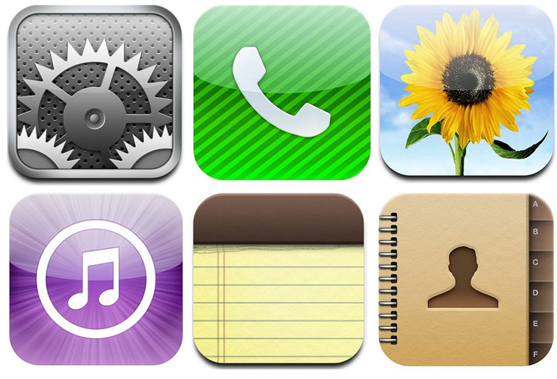 5 - Apple Icons used in Apple vs. Samsung Lawsuit - 2011