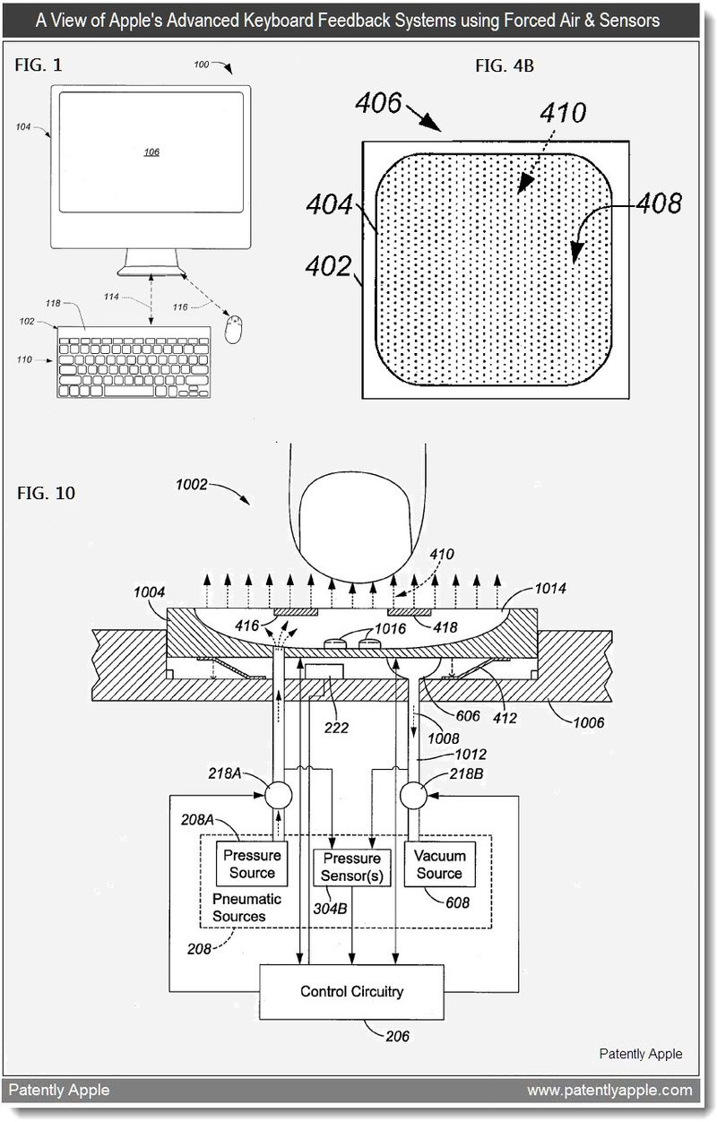 2 - A view of apple's advanced keyboard feedback system using forced air & Sensors - May 2011