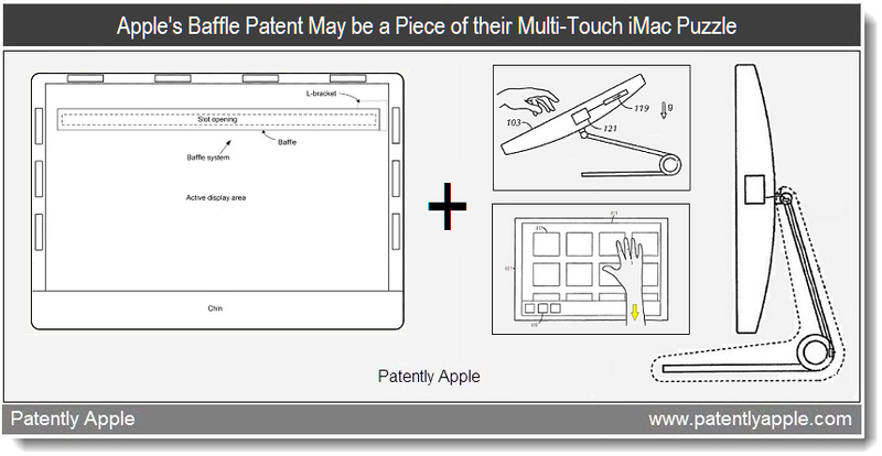 1& 4 - Apple's Baffle Patent May be a Piece fo their Multi-Touch iMac Puzzle - May 2011